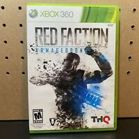 Red Faction Armageddon - Microsoft Xbox 360 Game With Case Tested Working