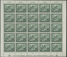 Alliierter Kontrollrat Messemarke 84 Pf 1948 mit Plattenfehler I  Ganzer BOGEN !