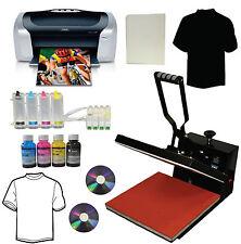 New 15x15 Heat Press,Epson Printer,CISS,Bulk Ink Kit,Heat Press Transfer Tshirt