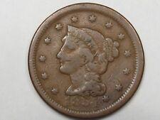 1854 US Braided Hair Large Cent.  #15