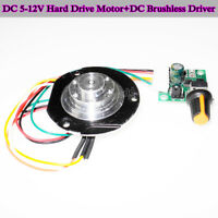 Set of 5-12V Hard Drive Motor Fluid Dynamic Bearing Motor W/ DC Brushless Driver