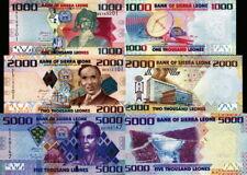 Sierra Leone - Lote Lot 3 Billetes 1000/2000/5000 Leones - Fds UNC