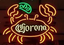 "Corona Big Crab Neon Sign Display Beer Bar Pub Mancave Garage Light20""X16""E398"