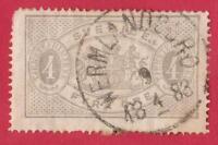 SUÈDE-SERVICE- N°:2 - 4 O gris-dentetlé x14-obliteration - price catalog 60 €