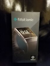 FITBIT Ionic SmartWatch Fitness Tracker Charcoal Gray FB503GYBK Factory Sealed