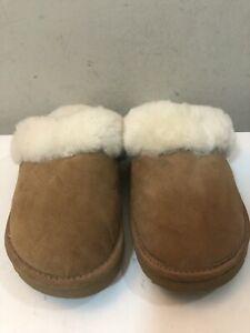 Alpaca Pete's Women's Brown Sheepskin Shearling Slippers Size M