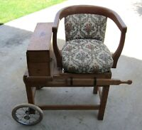 Vintage/Antique Doctors Weight Scale Chair.
