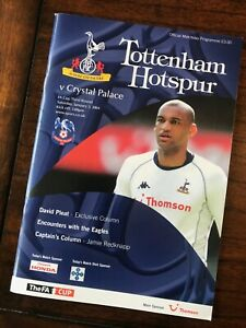 Tottenham Hotspur v. Crystal Palace - FA Cup 3rd Round 2003/04 Programme