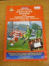 24/11/2001 Doncaster Rovers v Dagenham And Redbridge  (Excellent Condition)
