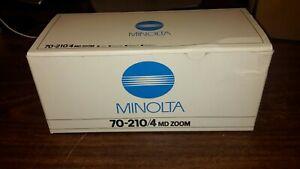 Minolta 70-210mm F4 MD Macro Zoom Lens w/Original box and Manual NEW in Box 1984