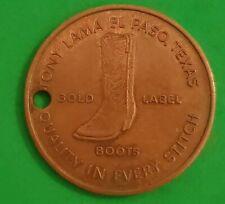Coin Keychain Boots Tony Lama Advertising El Paso Texas