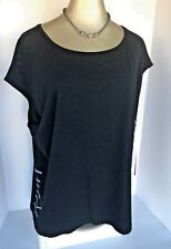 Calvin Klein 1X Black Top New $49 Tag & Glow-in-the-Dark CK Letters