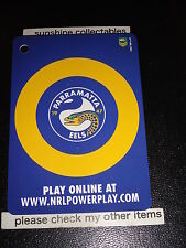 2015 NRL POWER PLAY BAG TAG CARD BT9 THE EELS