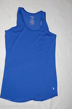 Womens Tank Top ROYAL BLUE RACERBACK Semi-Fitted FITNESS WORKOUT Dri-More S 4-6