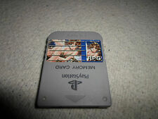 Tested! Official Grey *Anime RPG Sticker* Playstation 1 Memory Card Japan/US PS1