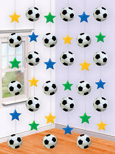 6 x 7ft Football + Star Hanging String Birthday Party Decorations Boys Girls