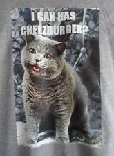 T-shirt I can has cheezburger GATTO CAT ergonometriche Taglia M-cheeseburger al