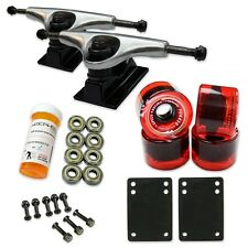 HD5 Skateboard Combo set - 2 tone Polished trucks (Gel Red)