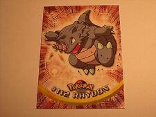 #112 Rhydon - 2000 Topps Pokemon Series 2 Official Trading Card Blue Logo