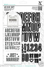 Docrafts Xcut 44 pc A5 'WEDDING EVER AFTER' + heart  Alphabet & Numbers die set