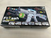 TOY M-16 Assault Rifle with Colored Flashing Lights Sound  BIG AR15 Flash US