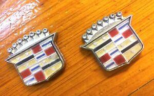 "-TWO 1980 Cadillac Eldorado Seville Roof Emblems 1 1/2"" x 1 1/4"" 12.812 20172333"