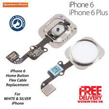 Nuevo Completo Botón De Inicio recambio para iPhone 6/6 Plus Blanco/SILVER