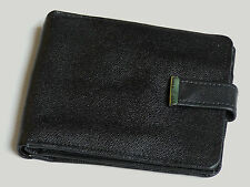 GENUINE NOS VINTAGE BLACK LEATHER MENS WALLET CASH COIN CREDIT CARD ID HOLDER