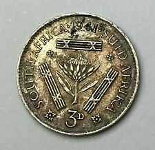 Dated : 1941 - Silver Coin - South Africa - Threepence - 3d - King George VI