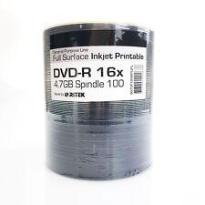 600 Ritek Full White Printable Blank DVD-R 16x Discs 4.7GB 120 minutes Grade A+