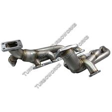 CXRacing Twin Turbo Header For 79-93 Ford Fox Body Mustang 5.0L T3 38mm WG