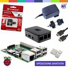 Raspberry Pi 3 Kit (M16 BLACK) con Alimentatore, Case, SD, HDMI e Dissipatori