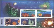 Canada 2002 (HK Joint issue) Coral/Fish/Marine/Conservation 4v m/s (b9519)