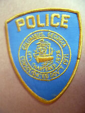 Patches: COLUMBUS, GEORGIA USA POLICE DEPT PATCH (NEW, apx. 11.5x9 cm)