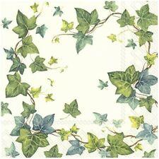 4 serviettes en papier napkins découpage collage 33 cm FEUILLE LIERREN 504