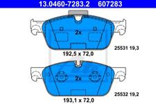 Bremsbelagsatz, Scheibenbremse für Bremsanlage Vorderachse ATE 13.0460-7283.2