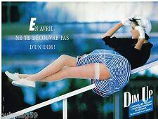 Publicité Advertising 1988 Les Bas et Collant Dim'up de DIM