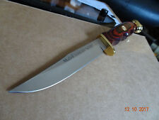 "8 3/4"" O.A.  MUELA RANGER HUNTING KNIFE ROSE WOOD HANDLE 440 BLADE LEATHER SH"