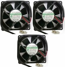 3x Industrial Sunon 12V/1.6W 80mm Brushless Electrical Cooler/Cool Fan Powerful