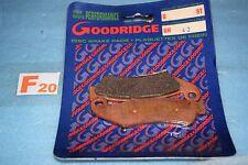 2 plaquettes de frein Goodridge HONDA TRX XR 250 600 R CR 125 250 500 R CRM 75