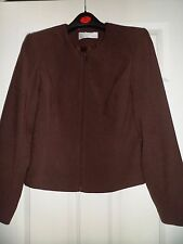 """Amarato brown fully lined,zip up jacket,size 12,38""""looks like suede,machine wash"""