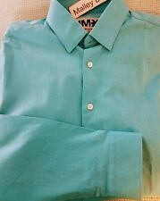 EXPRESS 1MX IRIDESCENT EXTRA SLIM FIT SHIRT XS X-Small TEXTURED BLUE REEF