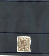 DENMARK Sc 106(MI 71)*VF LH 1913 25o DARK BROWN $13