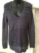 Hinge Women's Size XS Blue V-Neck Sweater from Nordstrom ~ Perfect w Leggings!