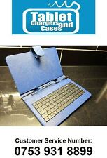 "Blue USB Keyboard Leather Case/Stand for 7"" Coby Kyros Android Tablet PC"