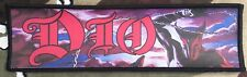 Dio Logo Large Super Strip Printed Patch D051P Holy Diver Rainbow Black Sabbath