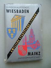Landeshauptstadt Wiesbaden Amtliche Stadtpläne 1:15000 Mainz Landkarte