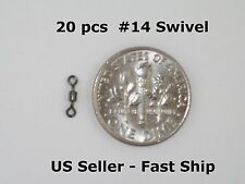 20 Premium #14 Leader Micro Mini Swivels Fly or Finesse +Free Ship! 24/7 Fishing