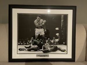 Muhammad Ali Signed Custom Framed 16 X 20 Ali & Liston- Steiner Sports COA