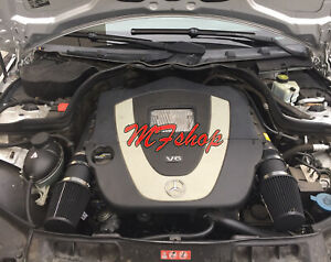 Coated Black For 2008-2012 Mercedes Benz C350 3.5L V6 Air Intake Kit